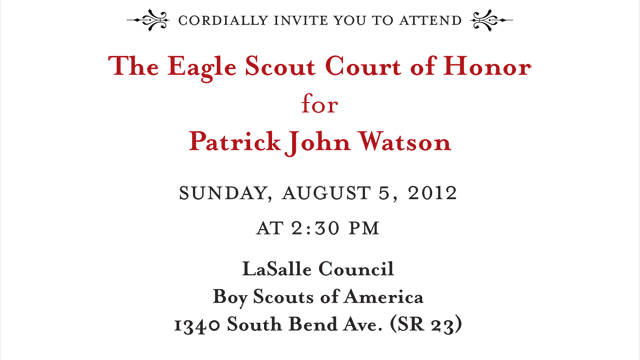 court of honor invitation copy